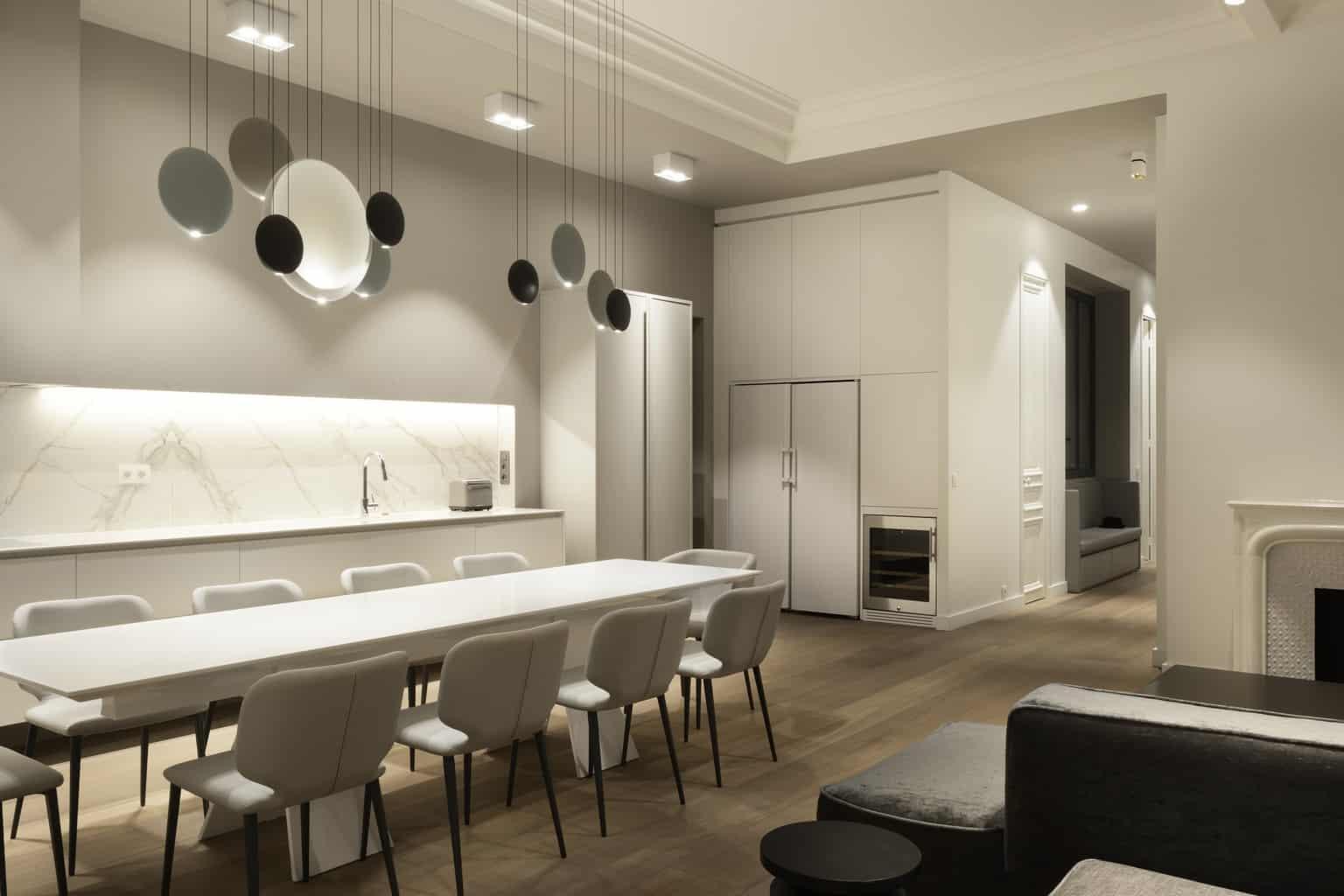 Denise Omer Design Appartement Paris Salon Table Repas Lustre Denise Omer Design Architecte D Interieur Design