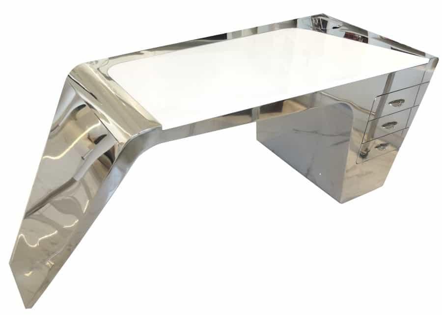 Denise Omer Design Bureau Sur Mesure Meuble Metal Inox Tiroir