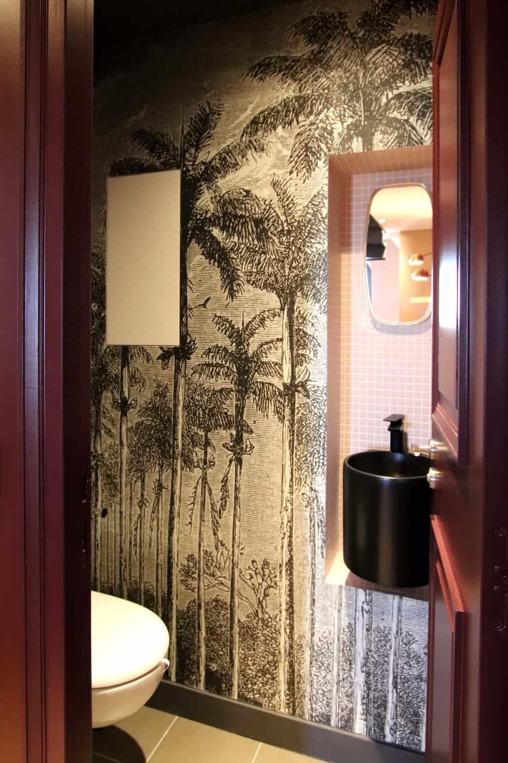 Denise Omer Design Decoration Appartement Paris Papier Peint Wc